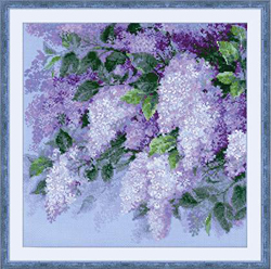 Borduurpakket Lilacs after the Rain - RIOLIS