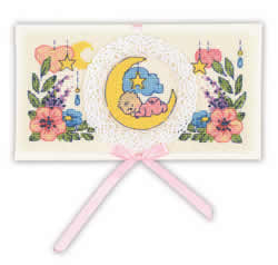 Borduurpakket Card Congratulations on the Newborn - RIOLIS