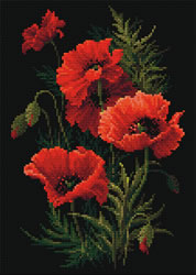 Diamond Mosaic Poppies - RIOLIS