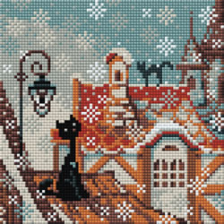 Diamond Mosaic City & Cats Winter - RIOLIS