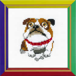 Borduurpakket English Bulldog - RIOLIS