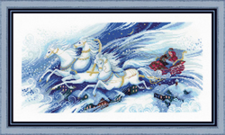 Borduurpakket Magical Sleigh Ride - RIOLIS
