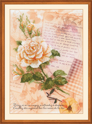 Borduurpakket Love Letters - Rose - RIOLIS