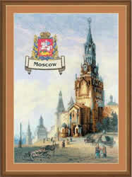 Borduurpakket Cities of Russia. Moscow - RIOLIS