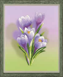 Borduurpakket Crocuses - Satin Stitch - RIOLIS
