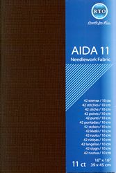 Borduurstof Aida 11 count - Black - RTO