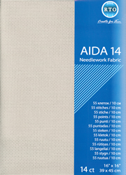 Borduurstof Aida 14 count - Grey - RTO
