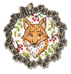 Borduurpakket Framed Art Fox - RTO