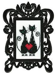Borduurpakket Framed Art Cat's Love - RTO