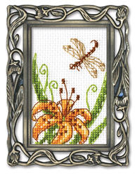 Borduurpakket Framed Art Dragonfly - RTO