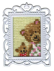Borduurpakket Framed Art Mama & Baby Bear - RTO