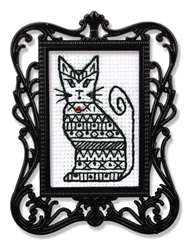Borduurpakket Framed Art Cat - RTO