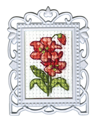 Borduurpakket Framed Art Red Flower - RTO