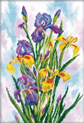 Borduurpakket Watercolor Ireses - RTO