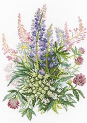 Borduurpakket Clover and Lupines - RTO