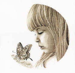 Borduurpakket Butterfly Girl - RTO