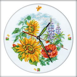 Borduurpakket Flower Clock - RTO