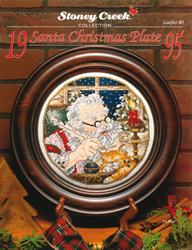 Borduurpatroon Santa Christmas Plate 1995 - Stoney Creek