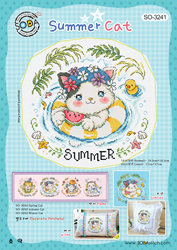 Borduurpatroon Summer Cat - Soda Stitch