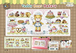 Borduurpatroon Teddy Bear Bakery - Soda Stitch