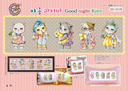 Borduurpatroon Good Night Kitty - Soda Stitch