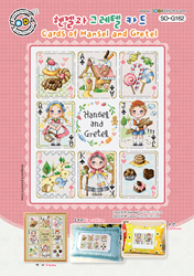 Borduurpatroon Cards of Hansel and Gretel - Soda Stitch