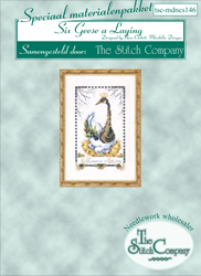 Materiaalpakket Six Geese a Laying - The Stitch Company