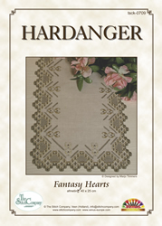 Hardangerpatroon Fantasy Hearts - The Stitch Company