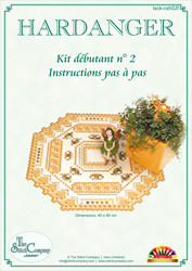 Hardanger Kit débutant 2 Jaune - The Stitch Company