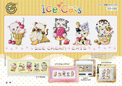 Borduurpakket Ice Cats - The Stitch Company