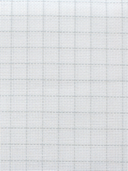 Fabric Easy Count Aida 18 ct, White 110 cm - Zweigart