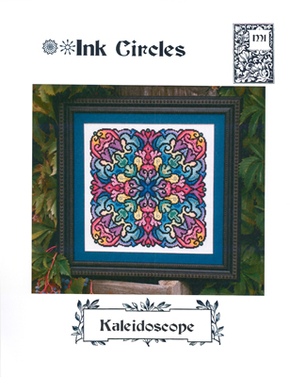 Borduurpatroon Kaleidoscope - Ink Circles