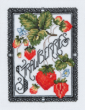 Borduurpakket Blackwork Berries - Janlynn