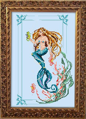Borduurpatroon Little Mermaid - Passione Ricamo
