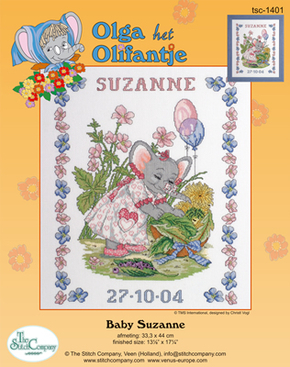 Borduurpakket Baby Suzanne - The Stitch Company
