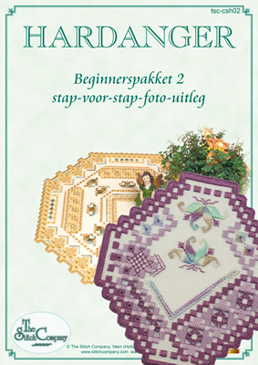 Hardanger Beginnerspakket 2 Paars - The Stitch Company