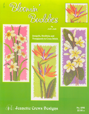 Borduurpatroon Blooming Buddies - Jeanette Crews Designs
