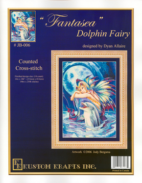 Borduurpatroon Fantasea Dolphin Fairy - Kustom Krafts
