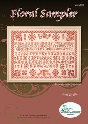 Borduurpatroon Floral Sampler - The Stitch Company