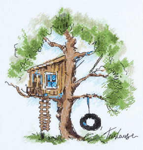 Borduurpakket Tree House - PANNA