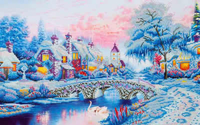 Diamond Dotz Winter Village - Needleart World