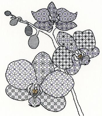 Hearts /& Diamonds Blackwork Embroidery Kit