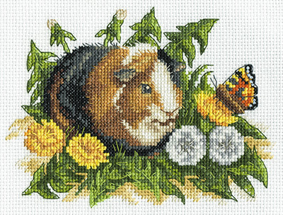 Cross Stitch Kit Guinea Pig Panna Panna Cross Stitch Kits