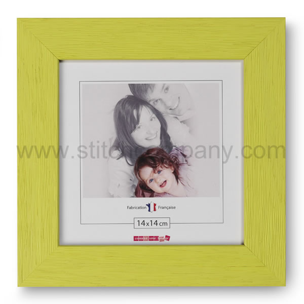 Wooden frame 14 x 14 cm, green - The Stitch Company > Frames ...