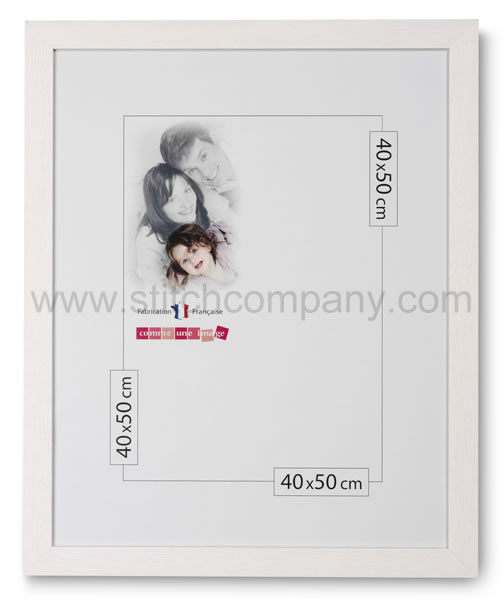 Wooden frame 40 x 50 cm, white - The Stitch Company > Frames ...