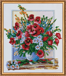 Bead Embroidery kit Summer Aroma-3 - Abris Art