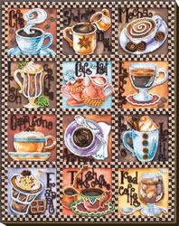 Kralen borduurpakket Coffee Map - Abris Art