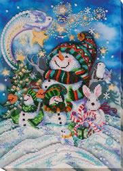 Bead Embroidery kit New Year's Night - Abris Art