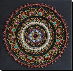 Bead Embroidery kit Mandala - Abris Art