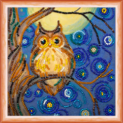 Bead Embroidery kit Midnight Owl - Abris Art